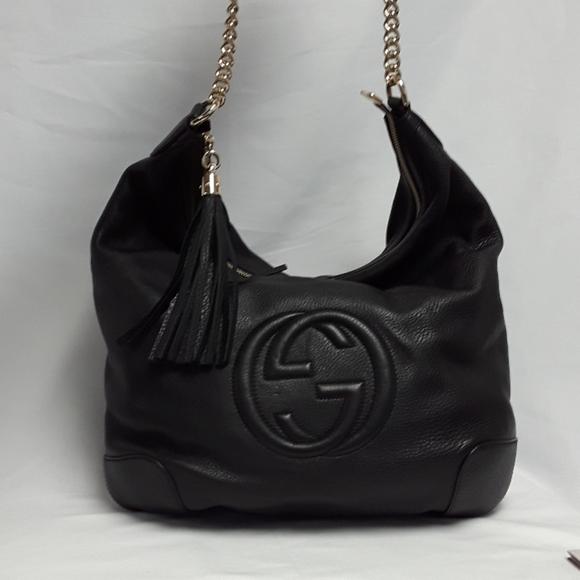 Gucci Handbags - New GUCCI 326706 Hobo Soho Leather shoulder bag